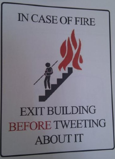 Tweet After Escaping Fire
